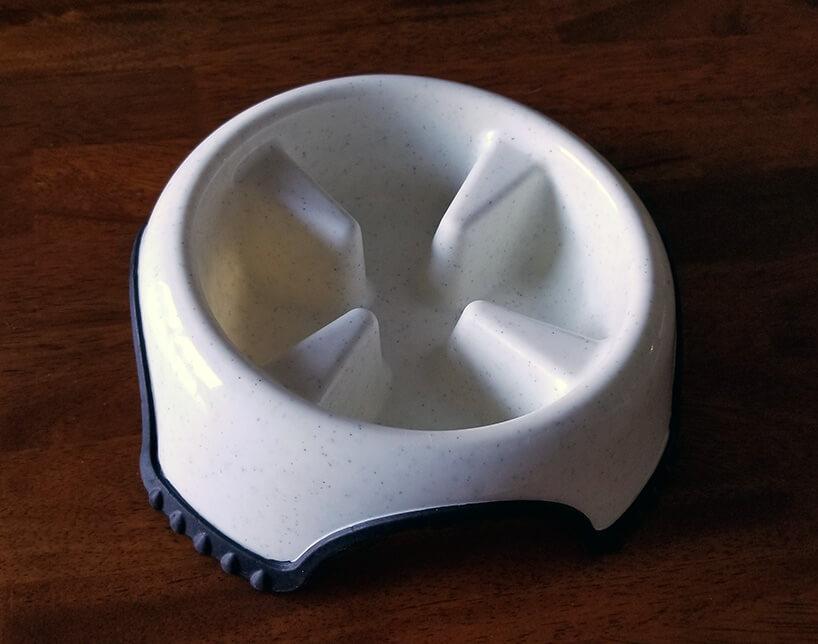 anti gulping dog bowl