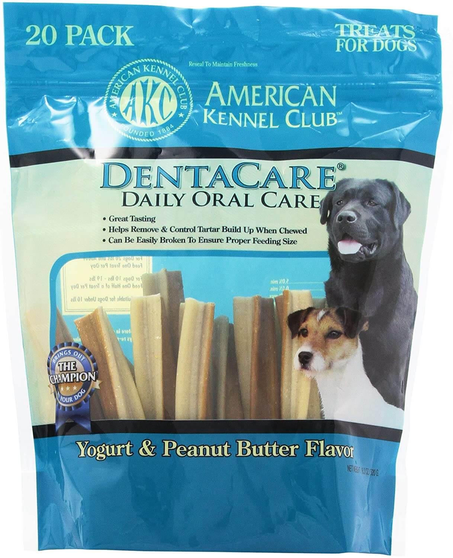 American Kennel Club 20 Count Yogurt And Peanut Butter Dentacare Dog Treats